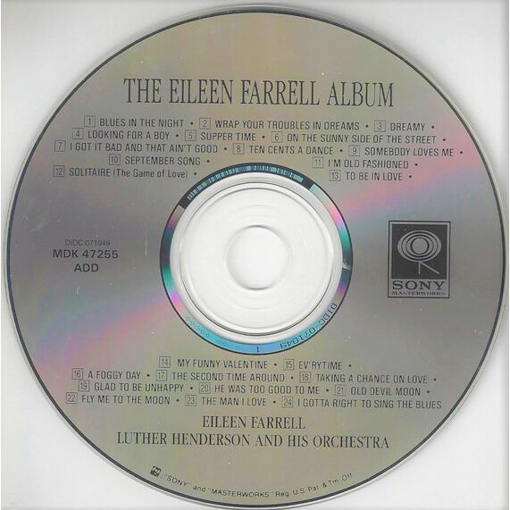 Eileen Farrell / Luther Henderson & his Orchestra The Eileen Farrell Album - I Gotta Right To Sing The Blues