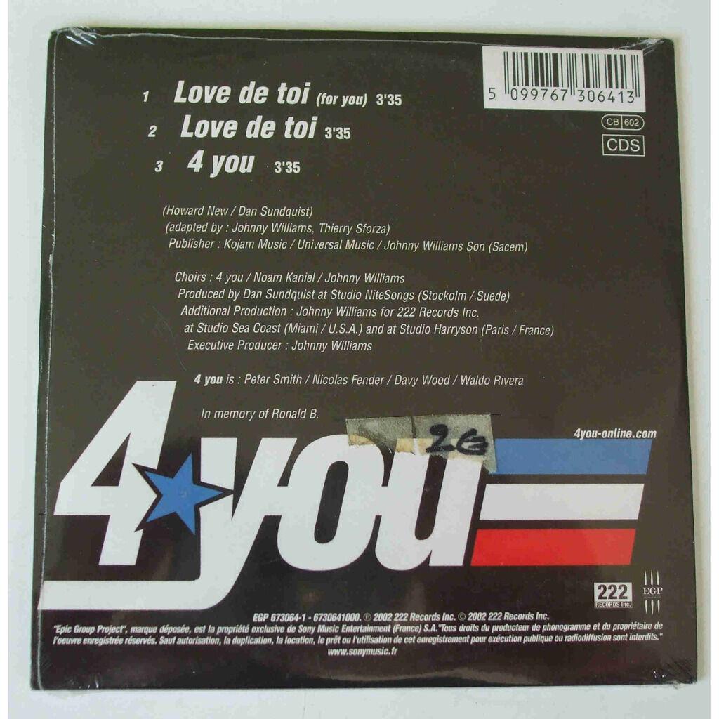 4 you Love de toi