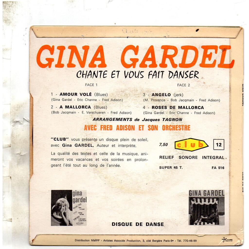 GINA GARDEL Amour volé / A Mallorca / Angelo / Roses de Mallorca