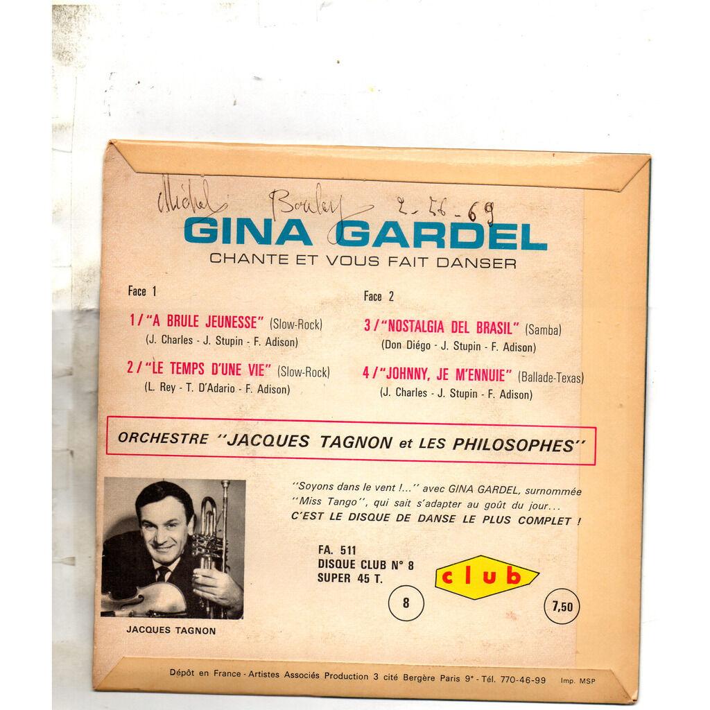 Gina Gardel A Brûle Jeunesse/Le Temps D'Une Vie/Nostalgia Del Brasil/Johnny Je M'Ennuie