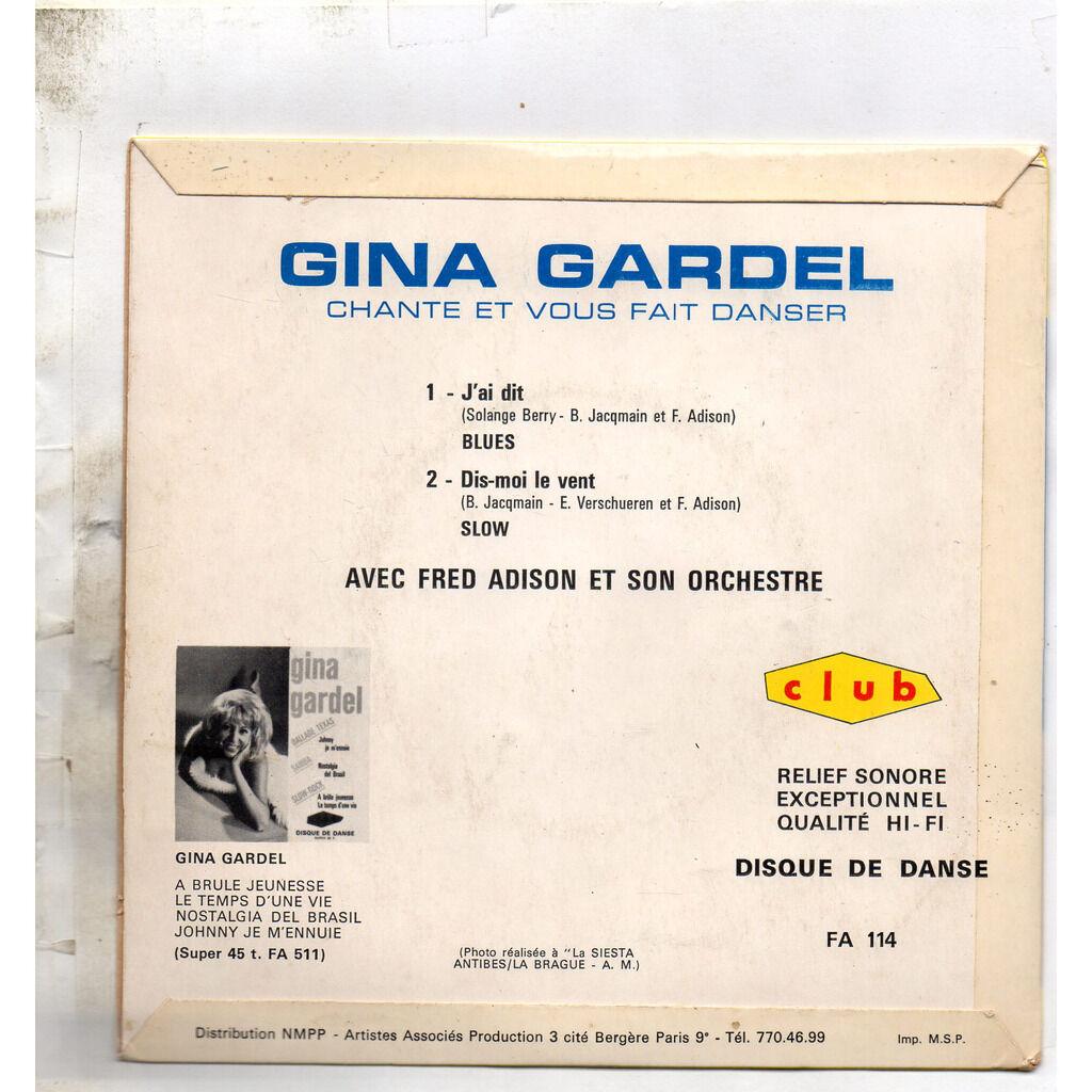 GARDEL Gina BLUES ET LETKISS,,,J'ai dit - Dis-moi le vent - Sur le pont - Qui craint le méchant loup