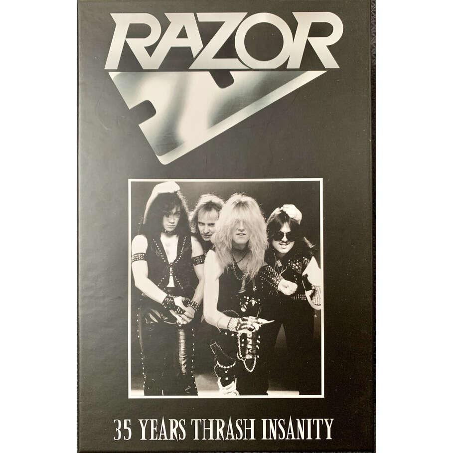 RAZOR 35 Years Thrash Insanity. Tape Boxset