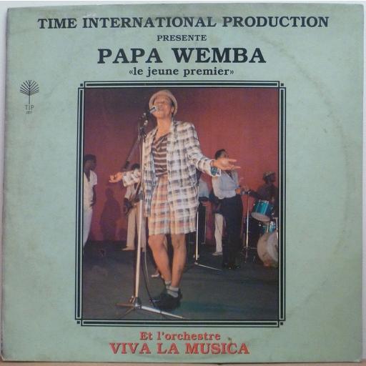 PAPA WEMBA et ORCHESTRE VIVA LA MUSICA Jeune premier