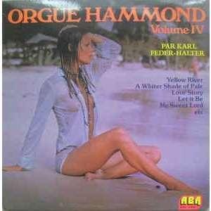 Karl FEDER-HALTER Orgue Hammond Volume IV