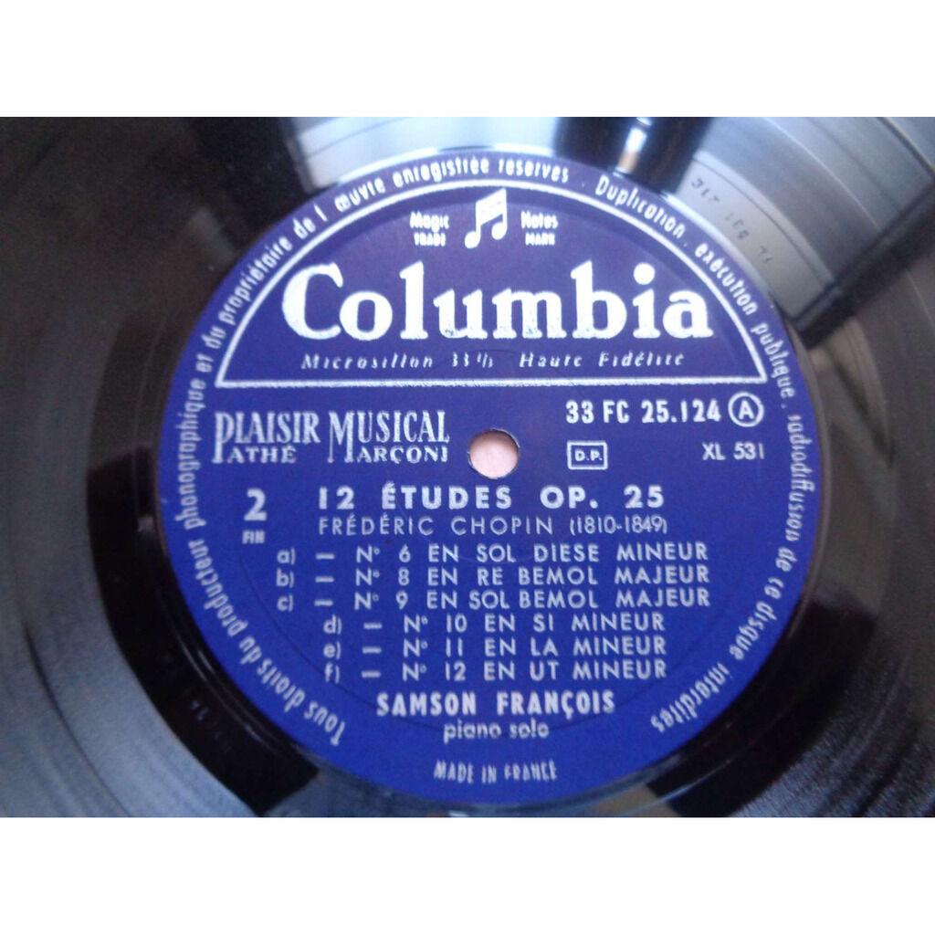 samson francois Chopin : Etudes op.25 - ( near mint condition )