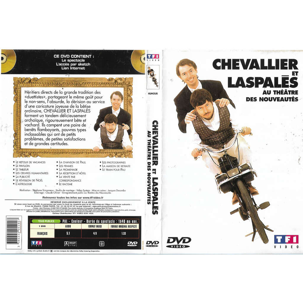 Chevallier et Laspalès Au Théâtre des Nouveautés