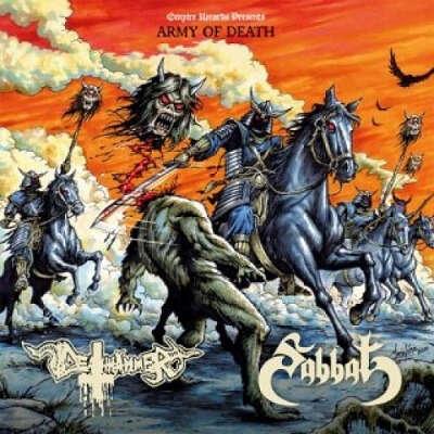 SABBAT / DEATHHAMMER Army of Death. Bone Vinyl