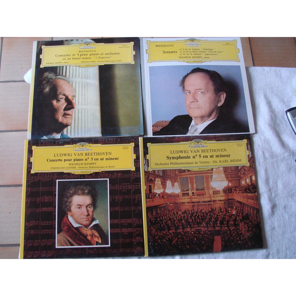 Lot de 12 disques 33 T 30 cm musique classique O; Ackermann - W. Kemppff - K. Bohm - K. Redel - Veyron-Lacroix - Perlemuter - R. Puyana