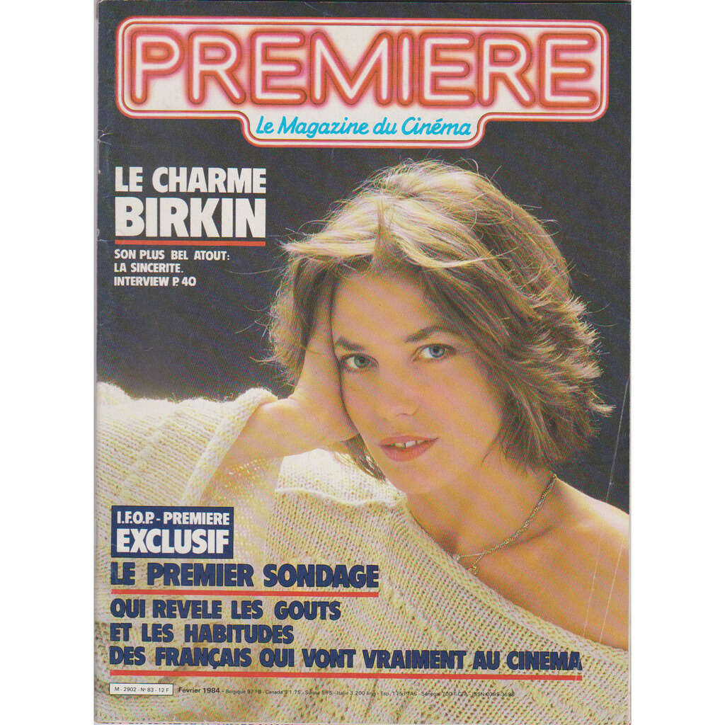 jane birkin Première n° 83 - février 1984