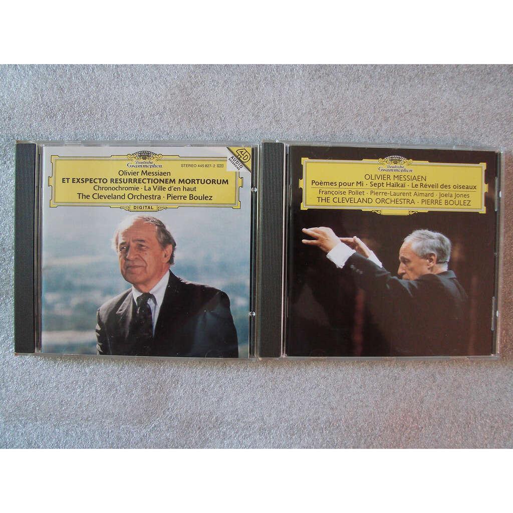 Olivier Messiaen - Pierre Boulez Cleveland Orche poemes pour Mi - sept hakai - le réveil des oiseaux - et exspecto resurrectionem mortuorum