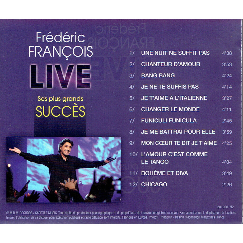 frederic francois Live