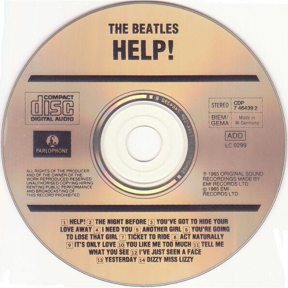 THE BEATLES - HELP ! (GER. PRESSING 1 CD)