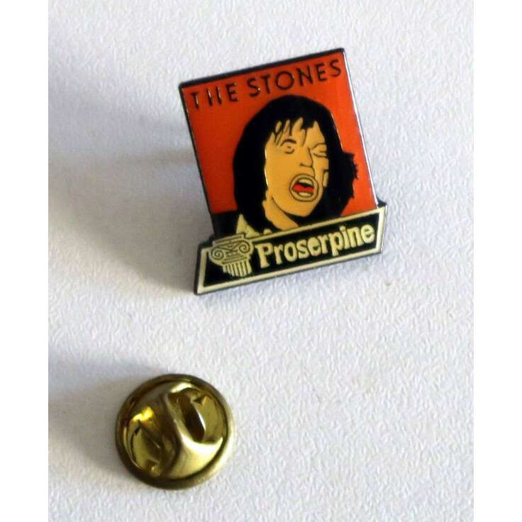 the rolling stones Vintage Enamel Pin's pin - THE ROLLING STONES : The Stones Proserpine