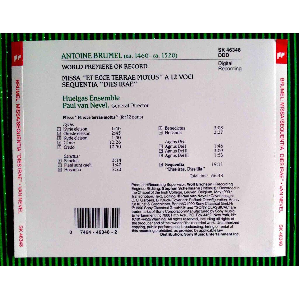 Antoine Brumel / Paul van Nevel / Huelgas Ensemble Missa Et ecce terrae motus a 12 voci / Sequentia Dies irae