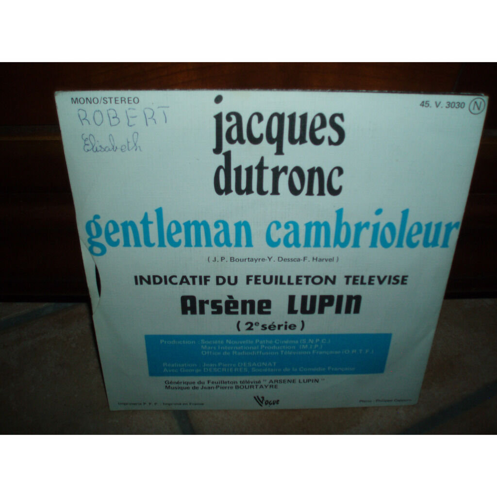 JACQUES DUTRONC gentleman cambrioleur : arsene lupin (2eme serie)