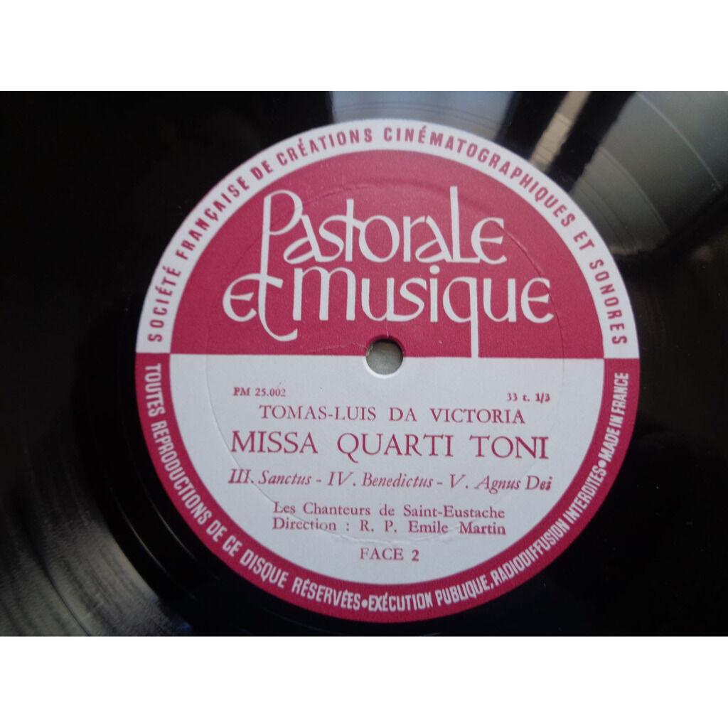 les chanteurs de st eustache - r.p. emile martin Tomas Luis de Victoria : messe quarti toni à 4 voix - ( lp 10 near mint condition )