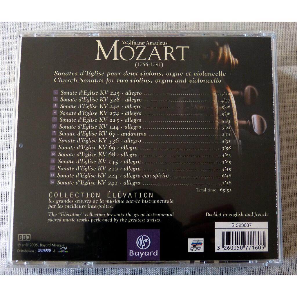 W.A.Mozart Sonates d'Eglise
