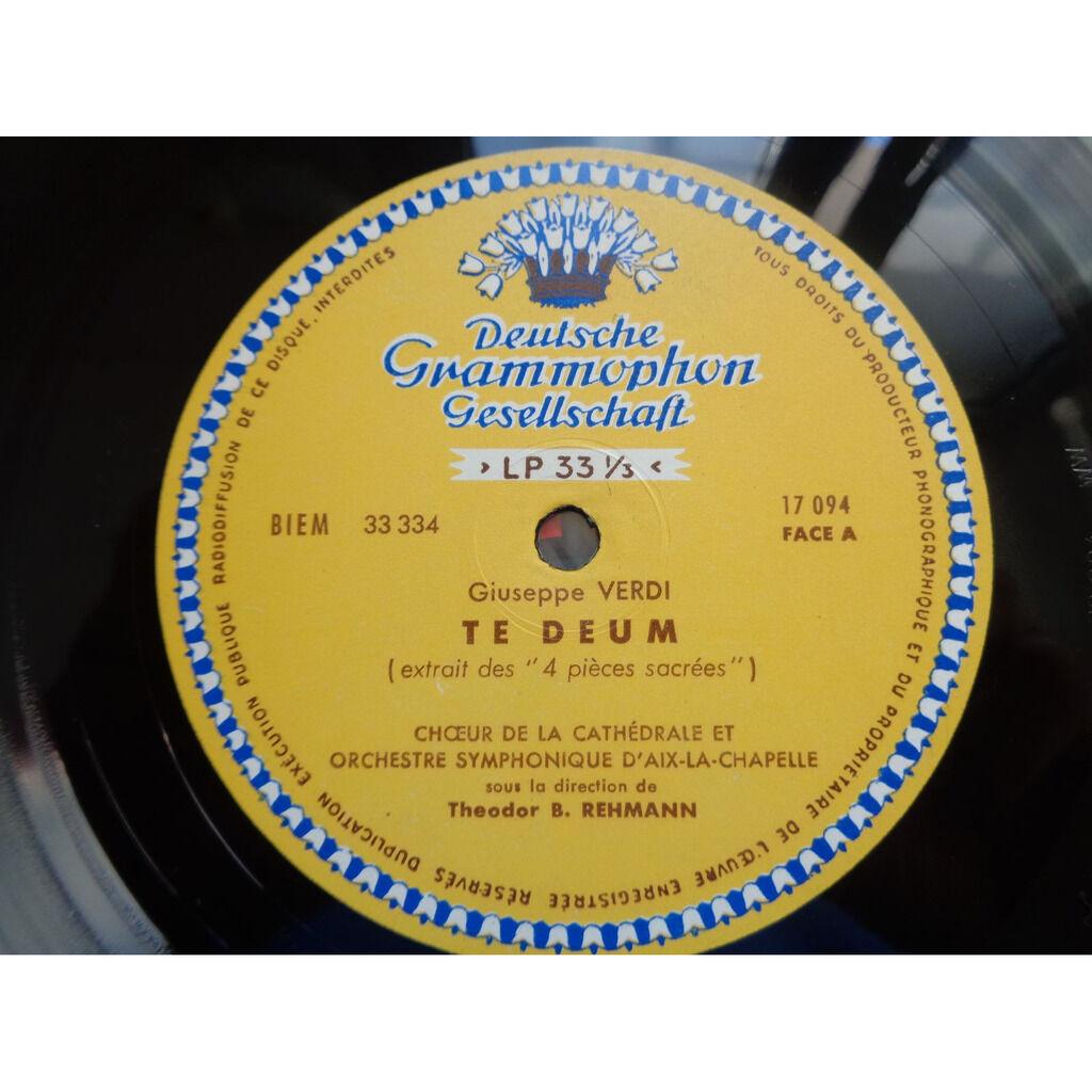 theodor b. rehmann - orchestre aix-la-chapelle Verdi : Stabat mater / Te deum - ( rare mono ed1 tulip near mint condition )