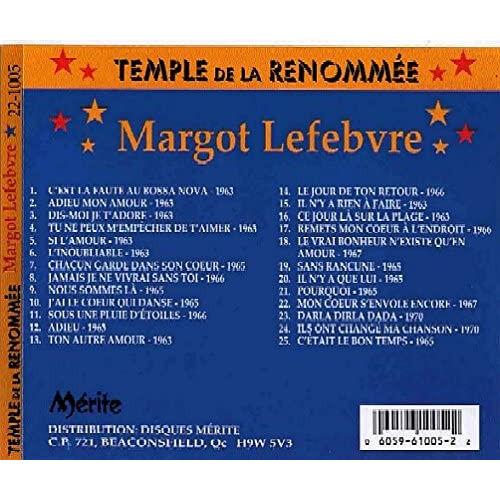 Margot Lefebvre 25 chansons - enregistrements originaux