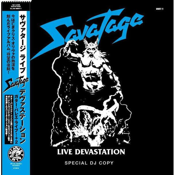 Savatage Live Devastation (lp) Ltd Edit Special Dj Copy & Blue Vinyl -Jap