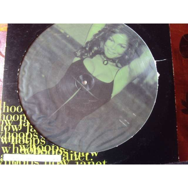 janet jackson WHOOPS NOW (RADIO EDIT) 1995 UK PICTURE DISC (MAXIBOXLP) + poster