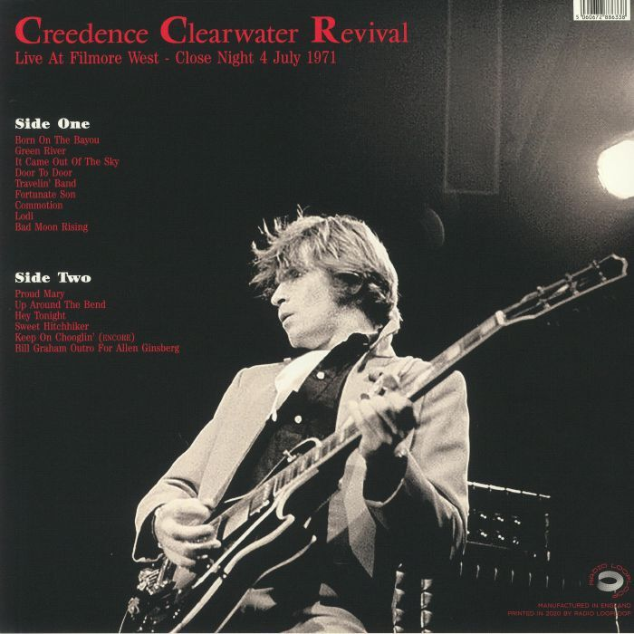 Creedence Clearwater Revival Live At Filmore West: Close Night July 4 1971 (lp)