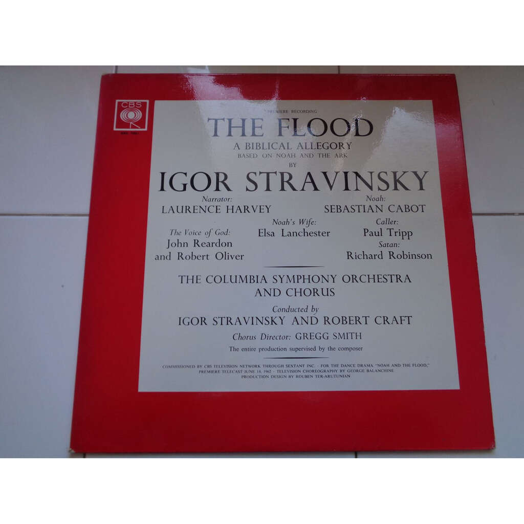 I. Stravinsky and R. Craft: Columbia Symph. Orch. Stavinsky : the flood - a biblical allegory - ( near mint condition )