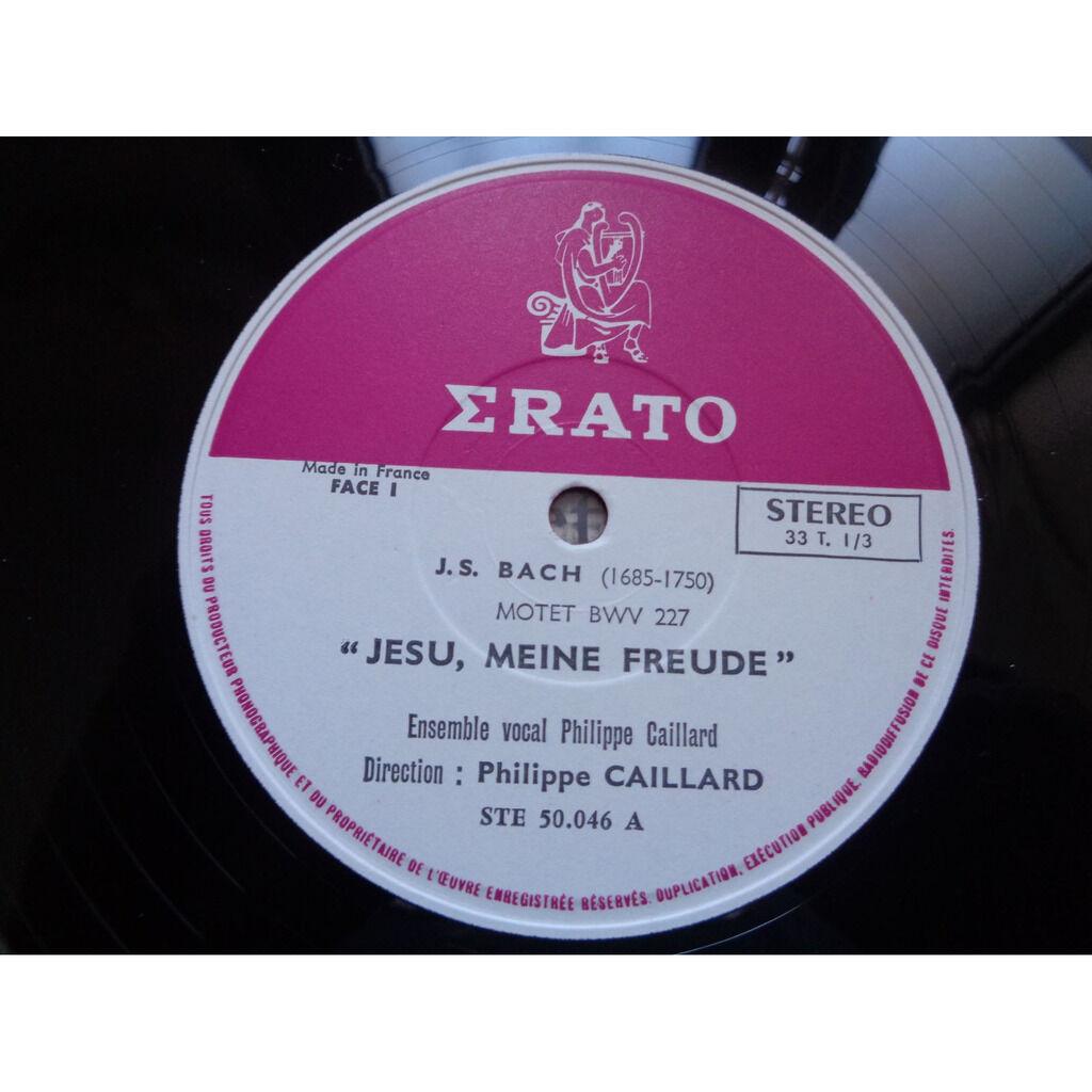 Ensemble vocal Philippe Caillard J.S. Bach : 2 grands motets BWV 227 & BWV 225 - ( stéréo near mint condition )
