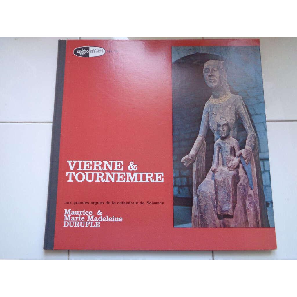 MAURICE & MARIE MADELEINE DURUFLE Aux Grandes Orgues De La Cathédrale de Soissons / VIERNE & TOURNEMIRE - ( near mint )