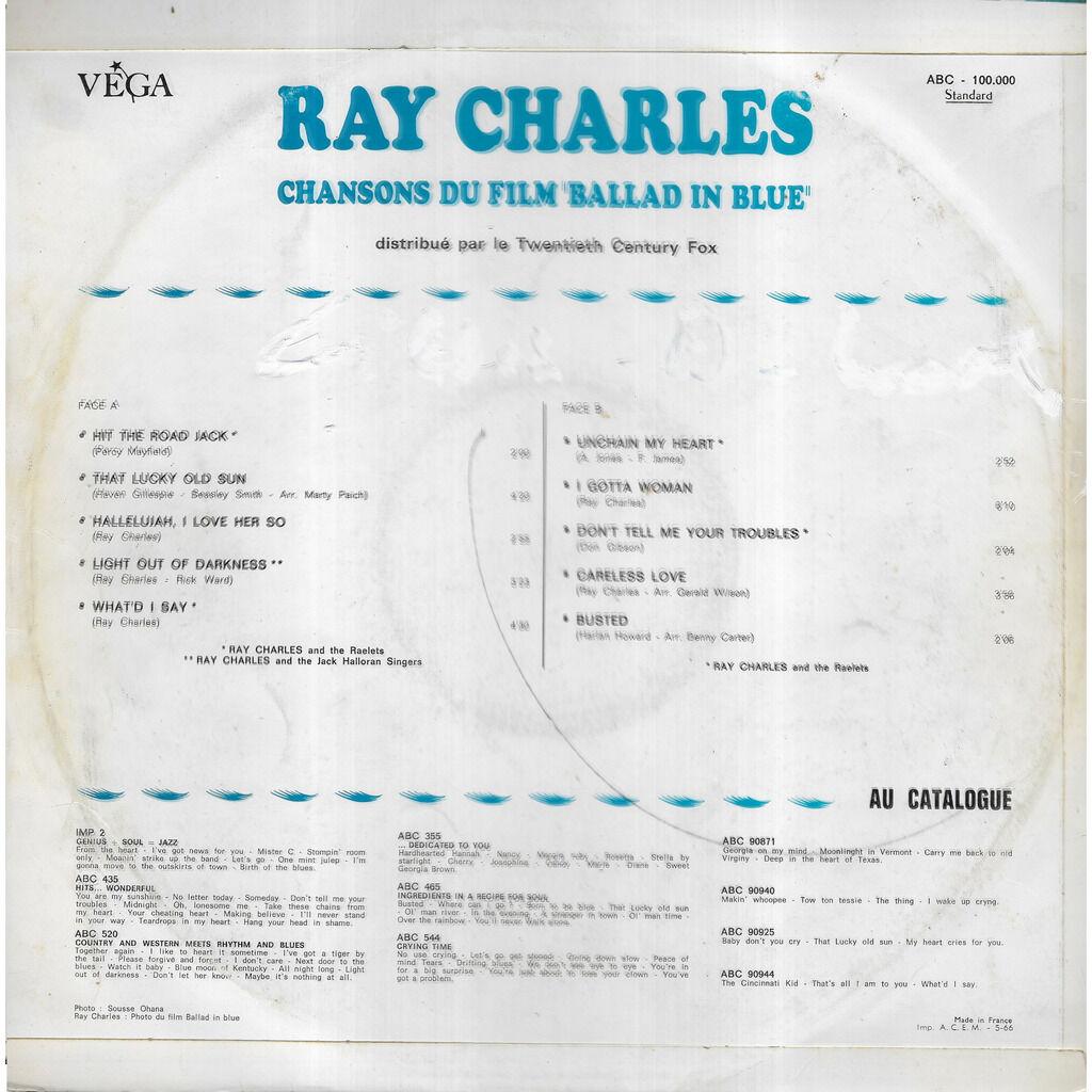 Ray CHARLES Chansons du film Ballad In Blue