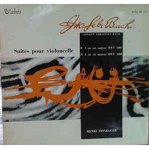 henri honegger bach: cello suites 1 / 2
