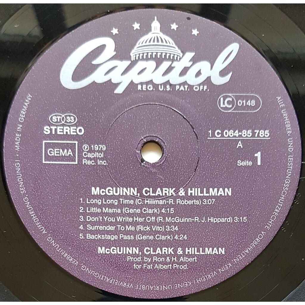 MC GUINN, CLARK & HILLMAN - ( EX BYRDS ) mc guinn, clark & hillman