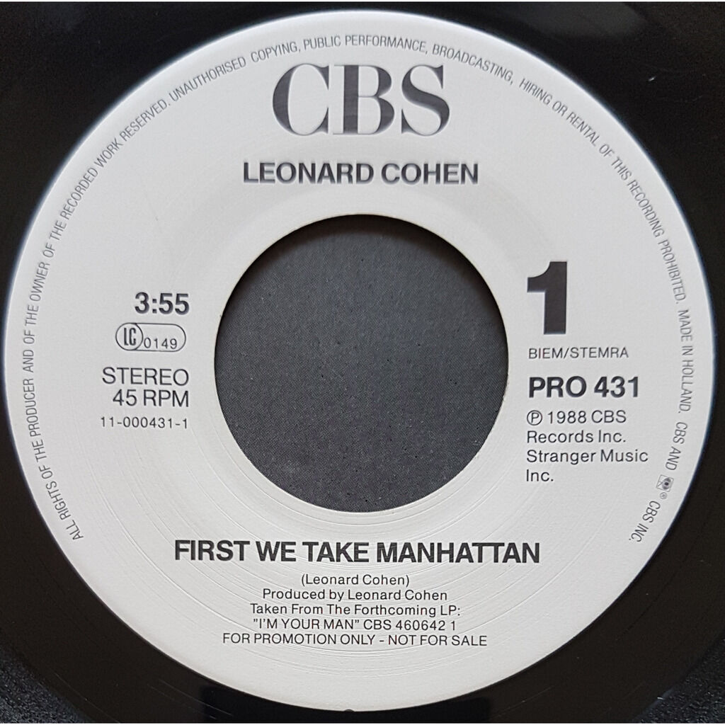 LEONARD COHEN first time we take manhattan - sisters of mercy - ( promo )
