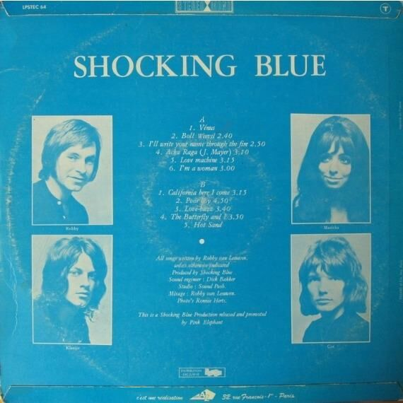 SHOCKING BLUE Venus (original French press - 1970 - Fleepbcak cover - T code on top back cover - BIEM)