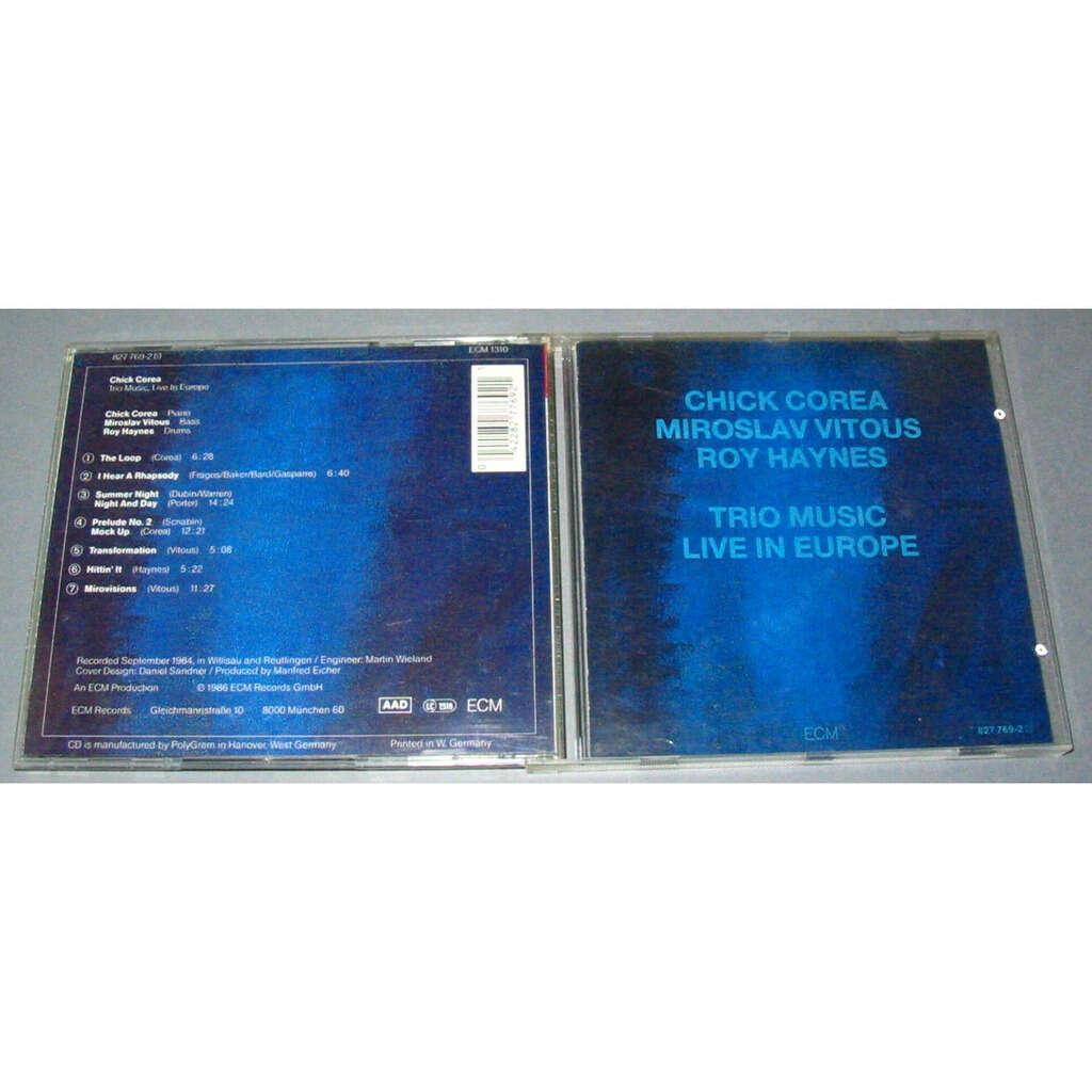 CHICK COREA MIROSLAV VITOUS ROY HAYNES TRIO MUSIC LIVE IN EUROPE