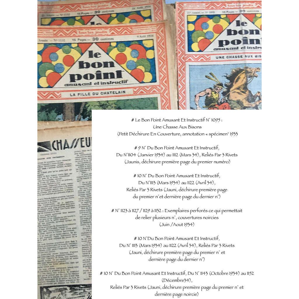 Le Bon Point Amusant Et Instructif : Le Bon Point Amusant Et Instructif : 1 N° De 1933 & 48 N° de 1934 (16 pages chaque fascicule - forma