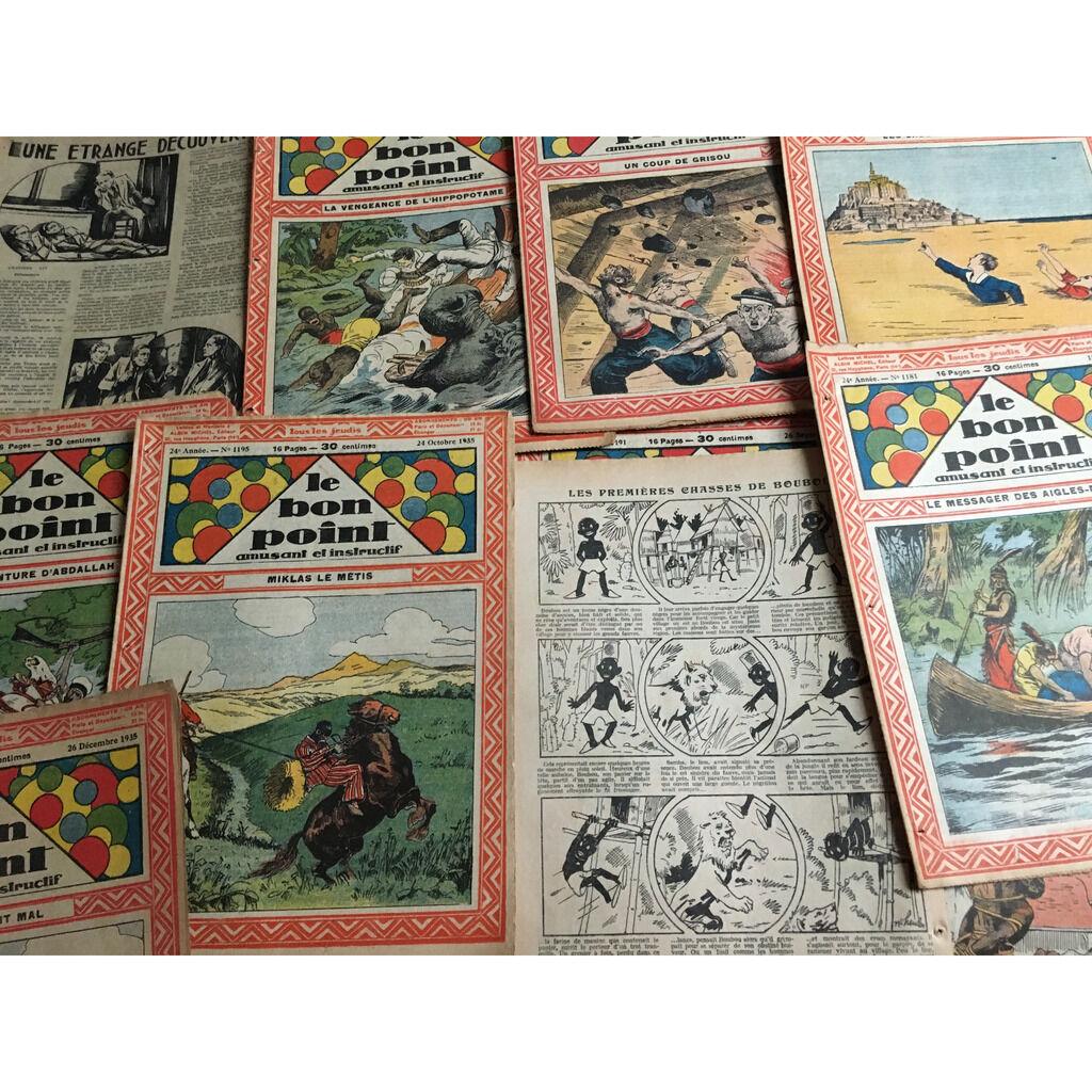 Le Bon Point Amusant Et Instructif : Le Bon Point Amusant Et Instructif : 46 numéro de l'année 1935 (16 pages chaque fascicule - format :