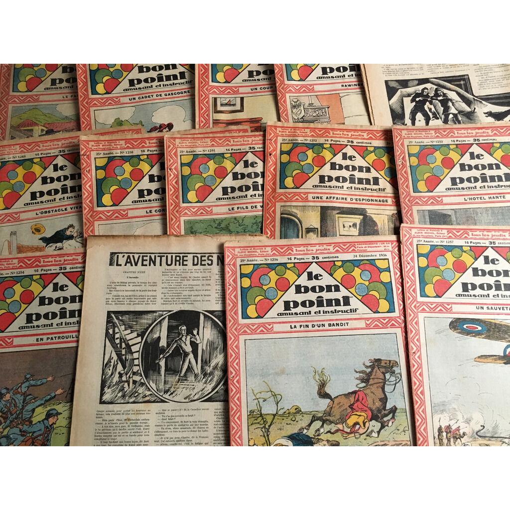 Le Bon Point Amusant Et Instructif Le Bon Point Amusant Et Instructif : 47 numéro de l'année 1936 (16 pages chaque fascicule - format