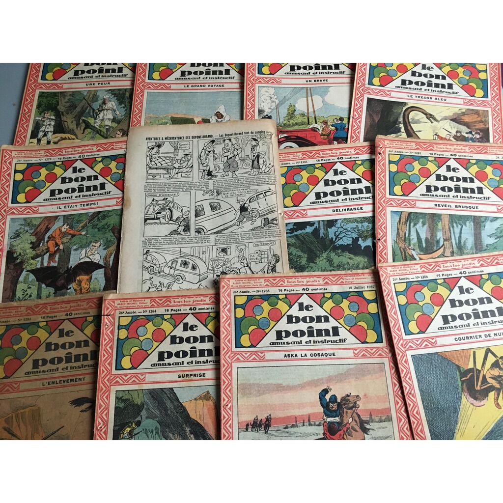 Le Bon Point Amusant Et Instructif Le Bon Point Amusant Et Instructif : 45 numéro de l'année 1937 (16 pages chaque fascicule - format