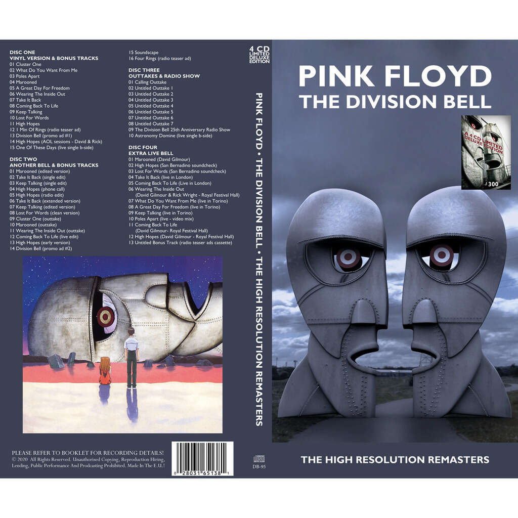 Pink Floyd BOX 4CD THE DIVISION BELL - THE HIGH RESOLUTION REMASTERS