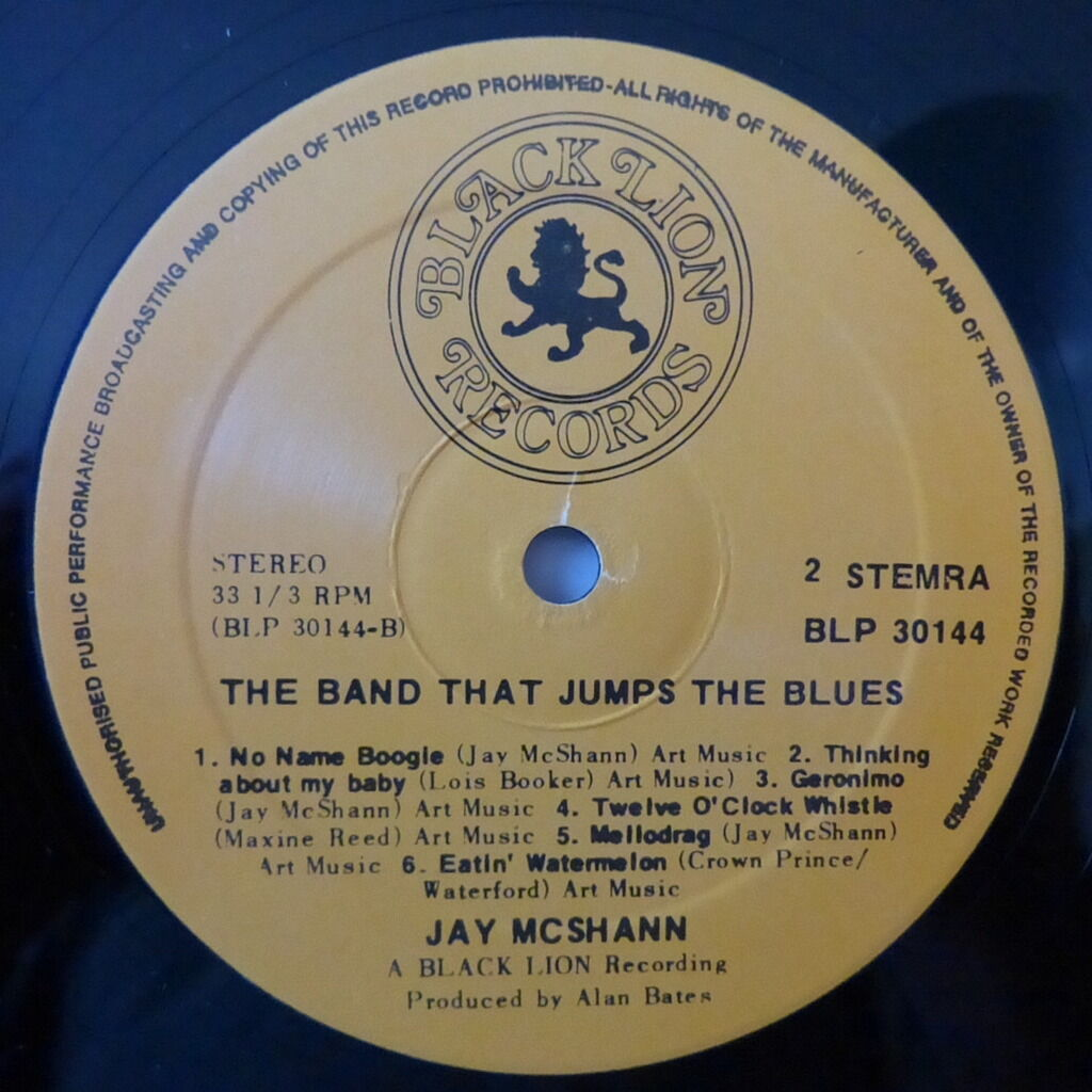 JAY McSHANN THE BAND THAT JUMPS THE BLUES