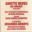 ginette neveu, hans schmidt-isserstedt brahms: violin concerto