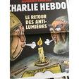CHARLIE HEBDO - Charlie Hebdo N°1381 : Le retour des anti lumières (couverture de Riss) 05/01/2019 - Moyen format