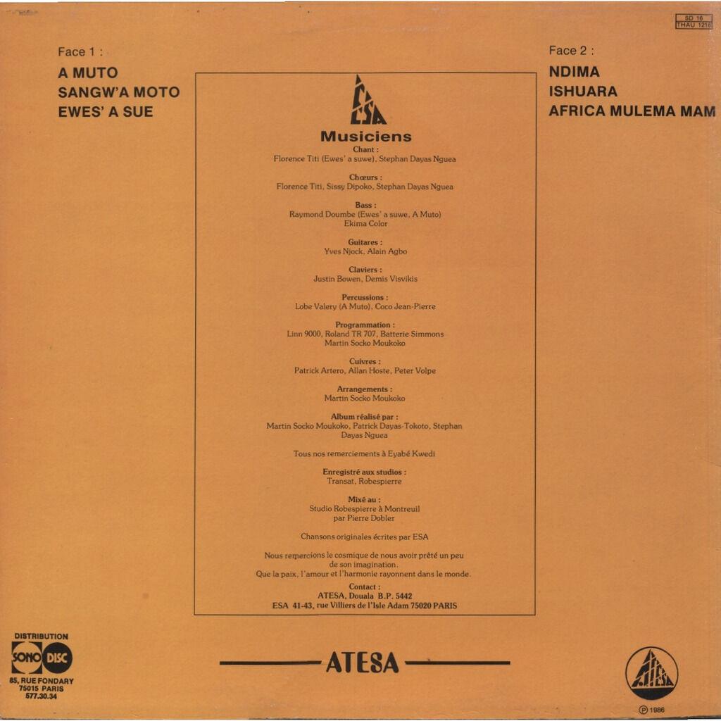 ESA (StephanDayas, Martin Soko Moukoko, Yves Njock Esa (same) 1er album (Makossa - Funk) ORIGINAL - FRANCE