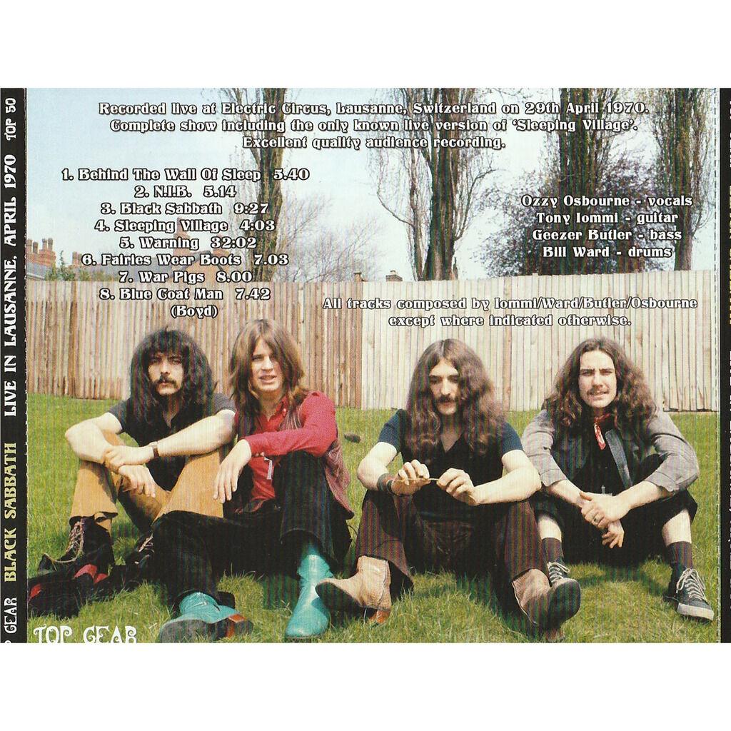 Black Sabbath Live In Lausanne April 1970