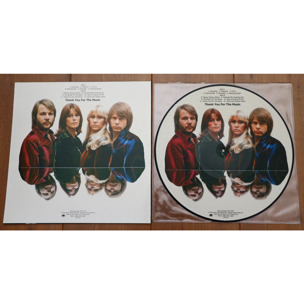 Abba Thank You For The Music / special limited edition picture disc for Abba Fan Club Japan