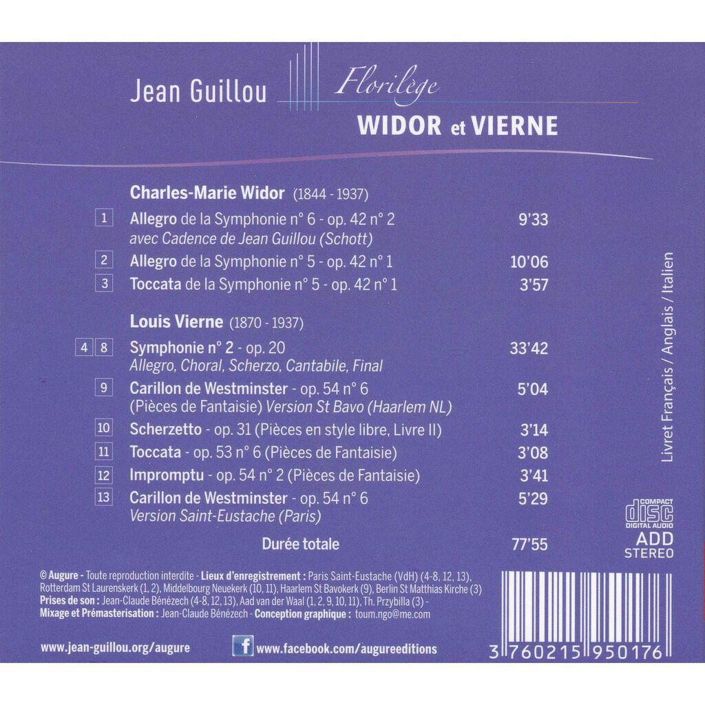 Jean GUILLOU, orgue Florilège WIDOR et VIERNE