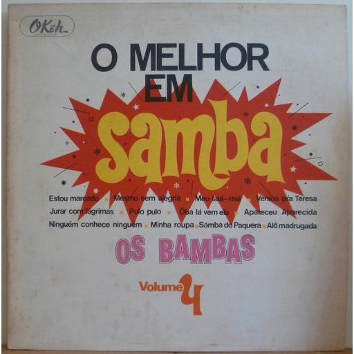 OS BAMBAS O melhor em samba volume 4