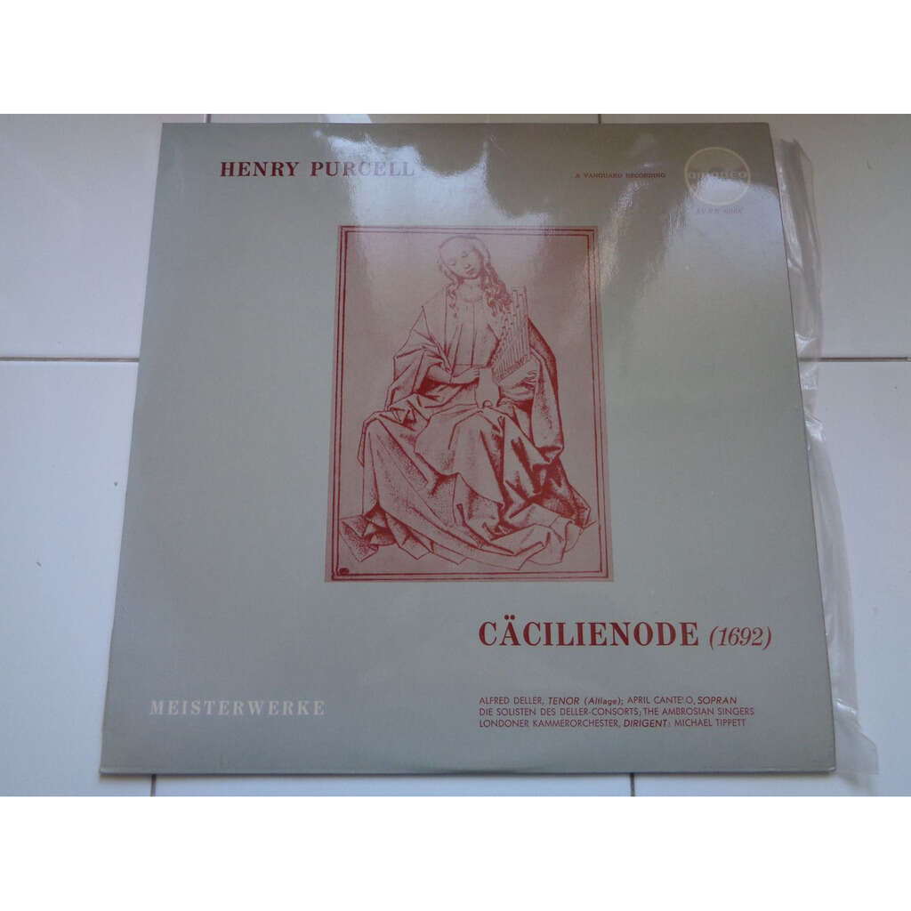 ALFRED DELLER / APRIL CANTELO / MICHAEL TIPPETT HENRY PURCELL : ode a sainte-cecile - cäcilienode 1692 - ( near mint condition )