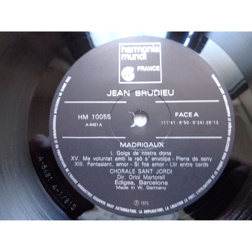 JOAN BRUDIEU - ENRIC RIBO MADRIGAUX CATALANS / MISSA PRO DEFUNCTIS - ( mint condition )